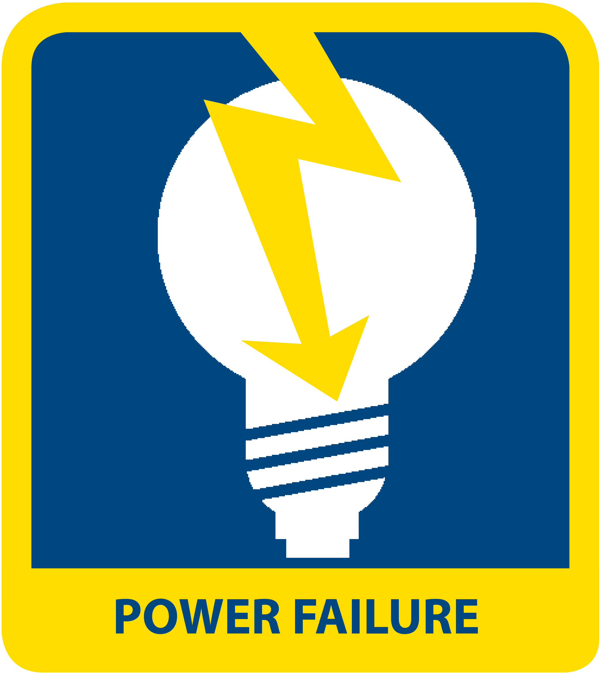 icon reads POWER FAILURE