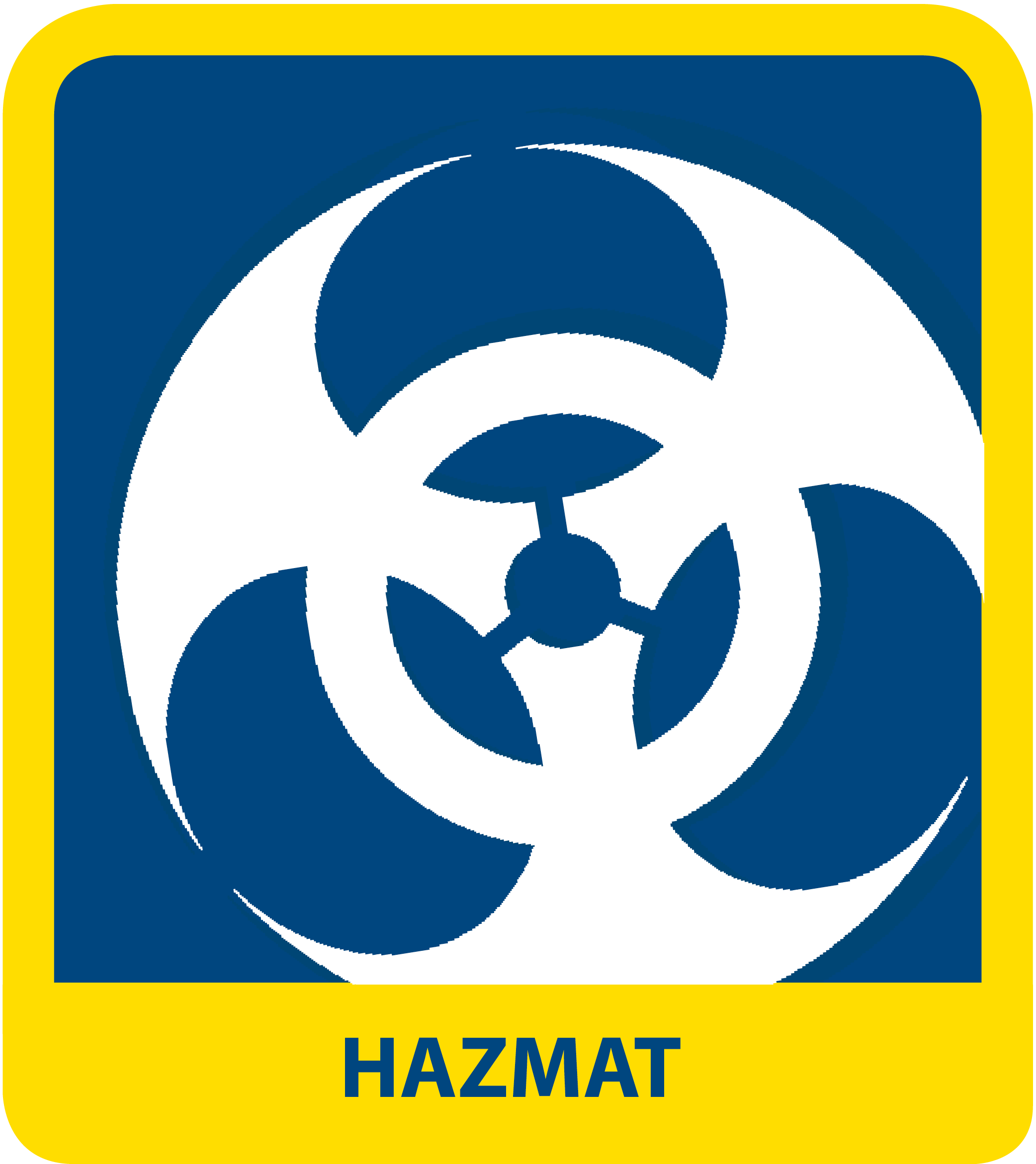 icon reads HAZMAT
